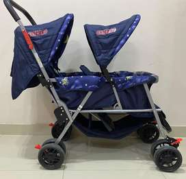Twin baby pram for sale