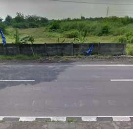 Lahan dkt exit Tol 6,5Ha muka 310m Jl.Raya Jogja Solo 1,5jt/m2