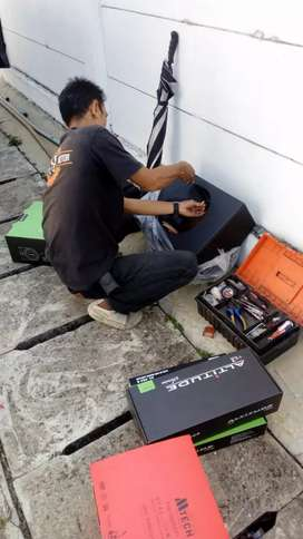 Paket audio sound mobil + instalasi + setting