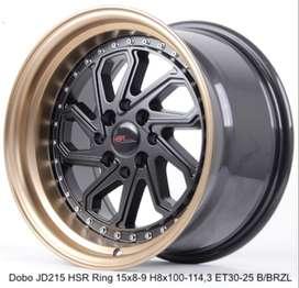 Velg DOBO JD215 HSR R15X8/9 H8X100-114,3 ET30/25 BK/BZL