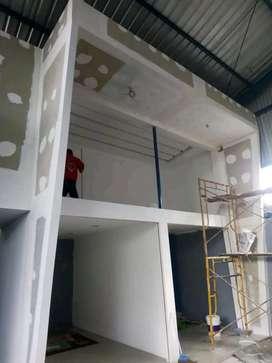 Plafon gypsum dan pvc