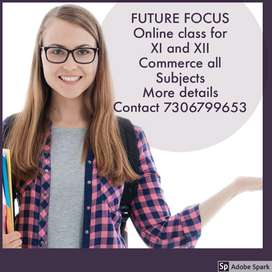 Online and offline Tuition for XI and XII Commerce