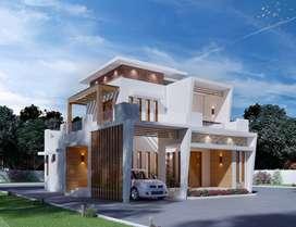4BHK Super Luxury Villa in 7 Cents Plot area