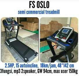 Treadmil OSLO # auto incline + bluetooth bisa cod
