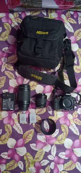 Nikon 5300d camera with 18-55 /70-300mm lens , carry bag