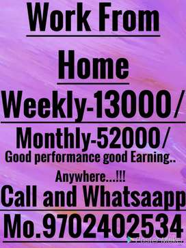 Full Vacancy direct joining weekly 13000