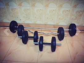 40kg Dumbbell and Barbell set | Fitness equipment | Home gym