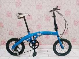 Sepeda lipat seli 7 speed uk 16 mulus enak di pakai