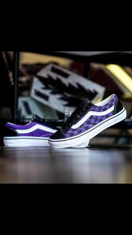 VANS】OLD SKOOL  V36OG BILLYS Black / Purple CHK Japan Market