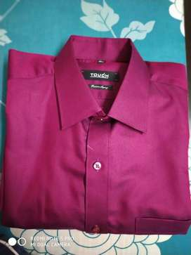 Crimson Color Party wear Shirt at low price
