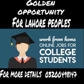 Lahore fresh people's required for online working in office based