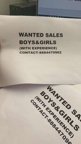 Wanted sales boys and girls