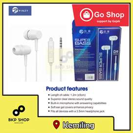 head set PINZY D9 Series with Microphone warna putih murah promo