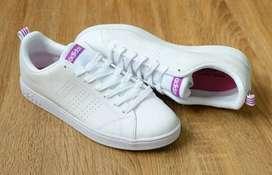 Adidas Neo advantage clean / white list purple made in indonesia BNWB