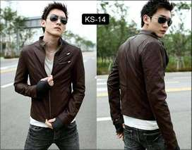 Jaket kulit double check korean style - SK14