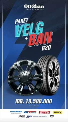 Paket Ban dan Velg Ring 20 pajero sport fortuner hummer L200 Terrano