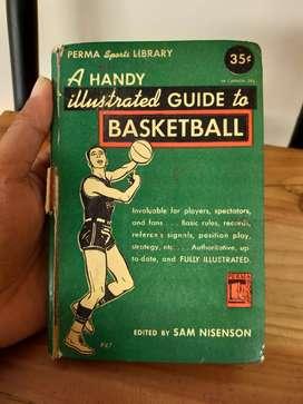 Buku Antik A Handy illustrated Guide to Basketball thn 1949