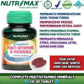 Nutrimax Complete Multivitamins & Minerals untuk kekebalan tubuh