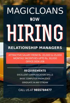 Need Candidates as Banking Relationship Managers in Chandigarh