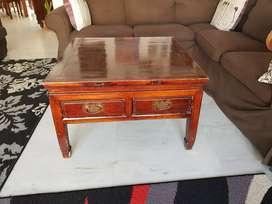 Sheesham Bar cabinet, coffee table, glass cabinet for crockery