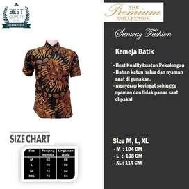 AM0047 Harga Promo COD Baju Kemeja Batik cowok Pria Kualitas terjamin