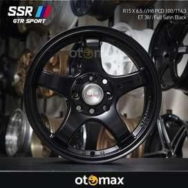 Velg Mobil SSR GTR Sport (5125) Ring 15 Full Satin Black