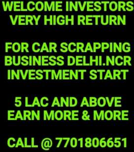 Investment in cars scrap business in delhi Ncr