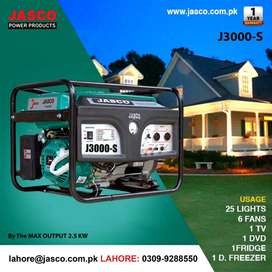 Generator Jasco J3000-s 3 kva  Petrol gas New W/warranty  Delivery
