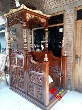 Mimbar masjid ukir Jepara terbaik