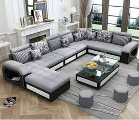 L shape best quality materials sofa sets