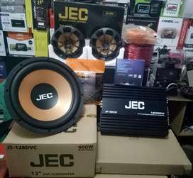Plus Pemasangan,Subwoofer JEC+Power JEC+Speaker JEC+Tweeter+Box+Kabel""