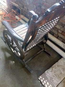 Rocking chair of bareily sheesham wood