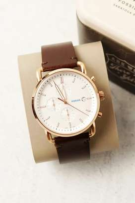 FOSSIL LEATHER CHRONOGRAPH