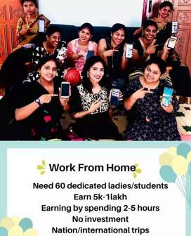 Work from home for female only