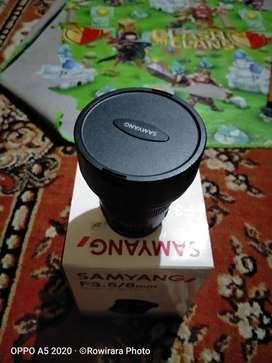 Dijual lensa fish eye samyang for nikon ring merah