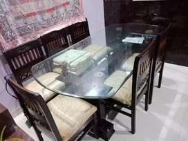 6 Seating Teak wood Dinning Table