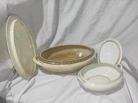 Tempat sayur bahan porselen kramik antik