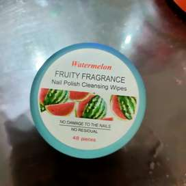 Watermelon Nail Polish Cleansing Wipes