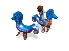 Sea Horse Rider Whimsy Mainan Anak Outdoor Super Murah