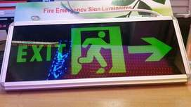 lampu Exit dan toilet led emergency