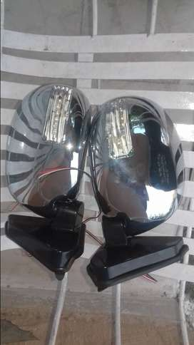 Side mirrors with indicators for mehran n Khyber.