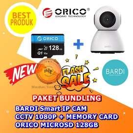 BARDI Smart IP CAM CCTV 1080P + MEMORY CARD ORICO MICROSD 128GB HEMAT