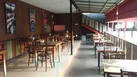 Dijual Bangunan Ex Resto pinggir jalan raya