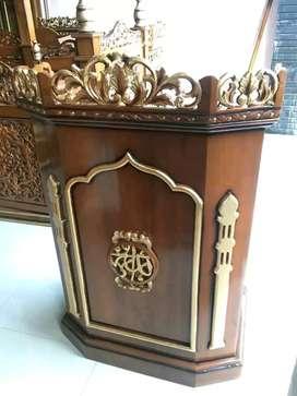 mimbar untuk masjid elegan