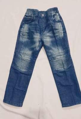 Celana Jeans  denim biru Anak anak CROCODILE  Cocok untuk 4-6tahuni