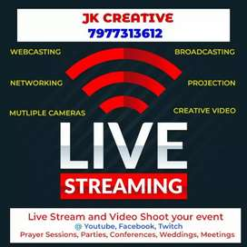 Live streaming, live Events, Concerts, Business meetings