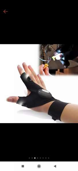 Led light finger lighting gloves