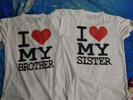 T - shirt printed pair M size 3pairs