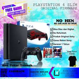 PLAYSTATION 4 SLIM ORIGINAL FREE GAME/FW 7.55/ORIGINAL GAME ONLINE