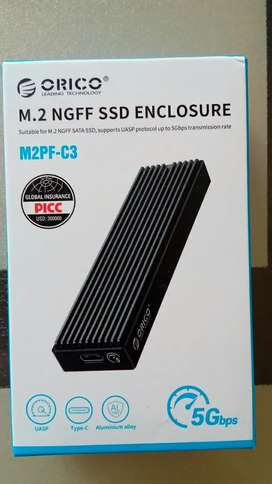 M.2 SSD external case Type C  Usb 3.1 New pack unused